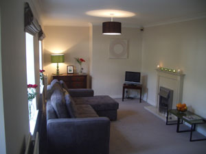 Our lovely sitting-room in Marie Cottage Gullane